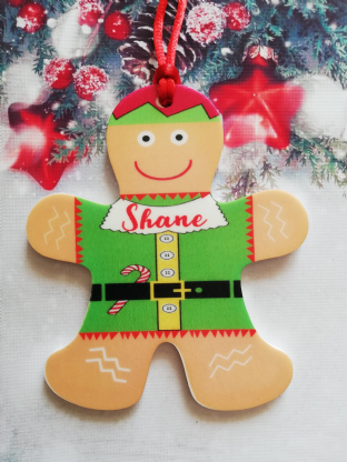 Gingerbread Elf  Christmas Ornament Decoration